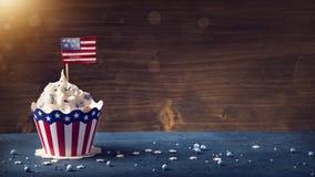 Τέταρτο της Cupcakesης Ιουλίου στοκ εικόνα με δικαίωμα ελεύθερης χρήσης
