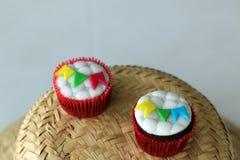 Cupcakes που διακοσμείται για το γιορτάζοντας ST John Στοκ φωτογραφίες με δικαίωμα ελεύθερης χρήσης