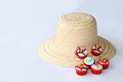 Cupcakes που διακοσμείται για το γιορτάζοντας ST John Στοκ εικόνες με δικαίωμα ελεύθερης χρήσης