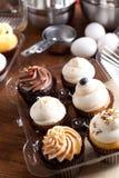 Cupcakes που συσκευάζεται φανταχτερό στοκ εικόνα