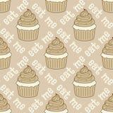 cupcakes πρότυπο άνευ ραφής Στοκ Εικόνες