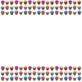 Cupcakes στο διάνυσμα Στοκ Εικόνα