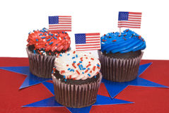 cupcakes τέταρτο Ιούλιος Στοκ εικόνες με δικαίωμα ελεύθερης χρήσης