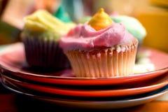 cupcakes τρία Στοκ φωτογραφία με δικαίωμα ελεύθερης χρήσης