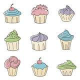 cupcakes χαριτωμένος Στοκ Εικόνες
