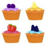 cupcakes χαριτωμένος Στοκ εικόνα με δικαίωμα ελεύθερης χρήσης