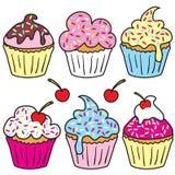 cupcakes ψεκάστε Στοκ Φωτογραφία