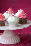 Cupcakes. Pink and white cupcakes on a cakestand Stock Photo