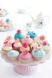 Cupcakes. Variety of cupcakes on a cakestand Stock Photo