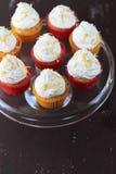 λεμόνι καρύδων cupcakes Στοκ Εικόνα