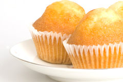 Cupcakes. The cupcakes on the plate Royalty Free Stock Photo