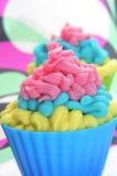 Cupcakes. Some colorful cupcakes with frosting of different colors Royalty Free Stock Photo