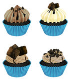 Cupcakes. Illustration of an isolated cupcakes on a white background Royalty Free Stock Photography