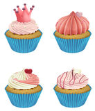Cupcakes. Illustration of various cupcakes on a white background Royalty Free Stock Image
