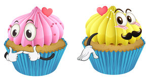 Cupcakes. Illustration of cupcakes on a white background Stock Photography