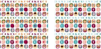 Cupcakes 3 stock illustratie