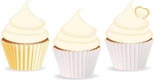 Βανίλια Cupcakes Στοκ εικόνα με δικαίωμα ελεύθερης χρήσης