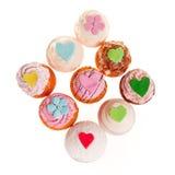 9 cupcakes Στοκ Εικόνες
