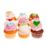 9 cupcakes Στοκ εικόνα με δικαίωμα ελεύθερης χρήσης