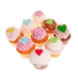 9 cupcakes Στοκ φωτογραφίες με δικαίωμα ελεύθερης χρήσης