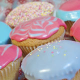 Cupcakes. Cup cakes/Muffins suitable for a birthday card or celebration card Royalty Free Stock Image
