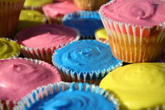 CupCakes. A variety of colourful cupcakes Stock Image
