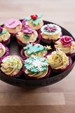 cupcakes εορταστικός Στοκ εικόνα με δικαίωμα ελεύθερης χρήσης