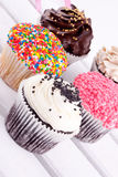 Cupcakes assorment Stock Photo