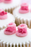 Cupcakes for a baby shower Royalty Free Stock Photos