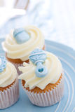 Cupcakes for a baby shower Stock Images