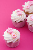 Cupcakes for a baby shower Royalty Free Stock Images
