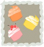 Cupcakes background Royalty Free Stock Photos