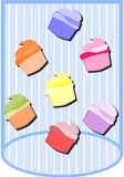 Cupcakes background Stock Photos