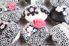Cupcakes background Stock Photo