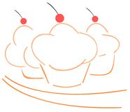 Cupcakes background Stock Photography