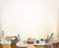 Cupcakes background. Royalty Free Stock Photography