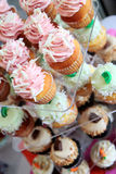 Cupcakes at bakery Stock Photography