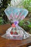 Cupcakes in basket Stock Photos