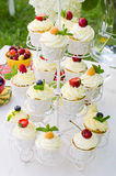 Cupcakes with berries Stock Photography