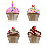 Cupcakes birthday anniversary Stock Photo