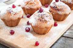Cupcakes with black currant jam Royalty Free Stock Image