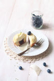 Cupcakes with Blueberries Stock Images