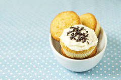 Cupcakes in a bowl Royalty Free Stock Image