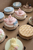 Three Little Pigs Cupcakes Stock Images