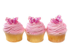 Cupcakes with Butterflies Stock Photo