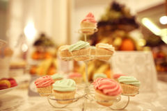 Cupcakes on cake stand Royalty Free Stock Photo