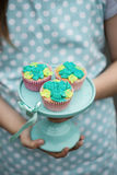 Cupcakes on a cake stand Royalty Free Stock Photos