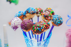 Cupcakes, cakes and holiday cookies Stock Images