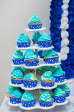 Cupcakes, cakes and holiday cookies Royalty Free Stock Photography