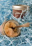 Cupcakes cakes in a jar for eating & shipping stock image